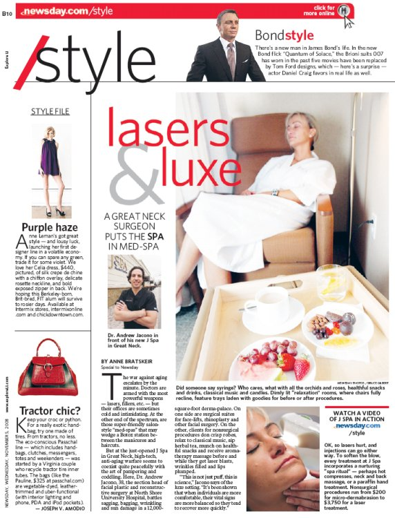 jspa newsday article   j spa medical spa in great neck ny