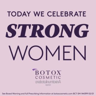 Reminder to celebrate the smart, fearless, resilient, kind women in your life — always, but especially on International Women's Day! Happy #InternationalWomensDay from our practice and BOTOX® Cosmetic. 💜 Contact our office to learn more about BOTOX® Cosmetic. #InternationalWomensDay2021 #IWD #IWD2021 #WomensEmpowerment #BotoxCosmeticProvider